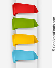 Colorful origami paper banners