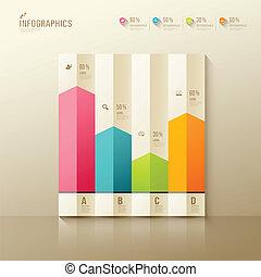 Colorful origami paper graph