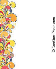 colorful ornamental border - ornamental border, individual ...