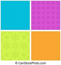 Colorful ornamental patterns