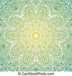 Colorful ornate mandala in oriental style, backdrop can be...