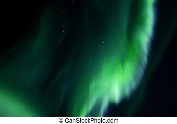 Colorful overhead aurora borealis