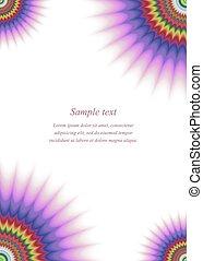 Colorful page corner design template