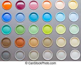 Colorful Paint Cans