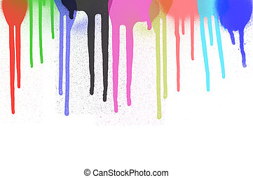Colorful paint dripping