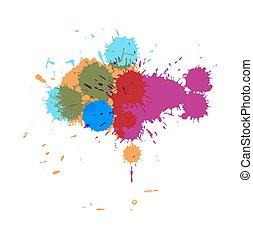Colorful Paint Drops