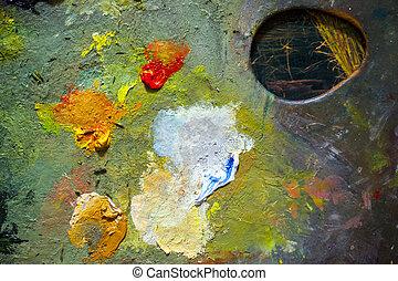 Colorful Paint Palette
