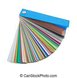 colorful paint samples on white background - colorful paint...