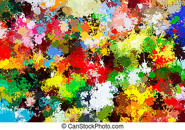 Colorful paint splashes background. Creative art