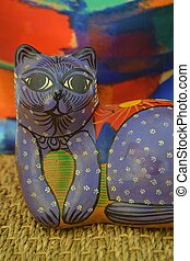 Colorful Painted Cat from Mexico
