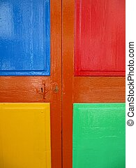 Colorful painted door