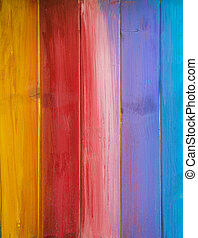 Colorful Painted Wood Background