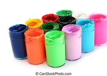 Colorful paints
