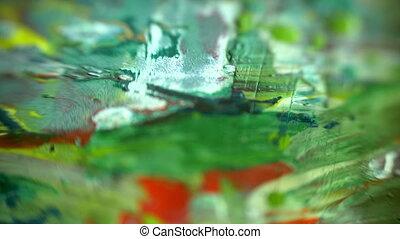 Colorful Paints Mix macro shot