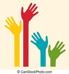 Colorful Palm Hands
