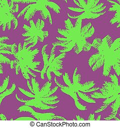 Colorful Palm Tree Seamless Pattern. Vector illustration