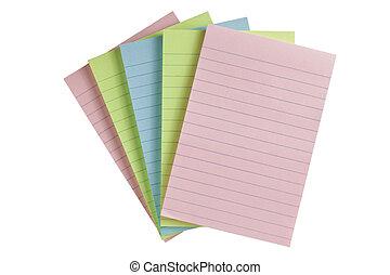 colorful pap paper