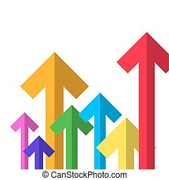 Colorful Paper Arrows. Vector Arrow Set.