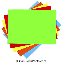 Colorful paper background set