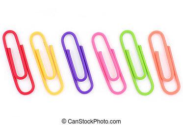 colorful paper clip