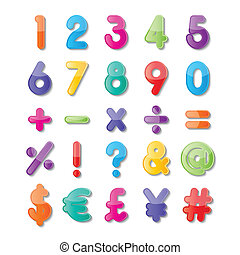 paper number and symbol - colorful paper number and symbol...