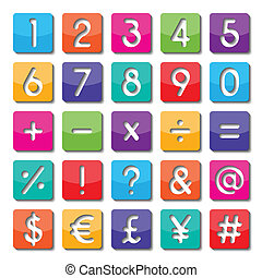 paper number and symbol - colorful paper number and symbol ...