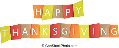 Colorful paper tags or labels with Thanksgiving theme