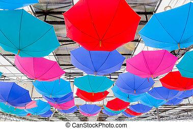 Colorful Paper Umbrella