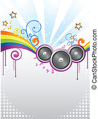 colorful party disco flyer