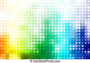 Colorful Party Disco Trendy Abstract Background With Glowing...