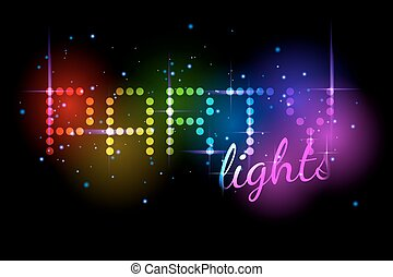 Colorful party lights with sparkle