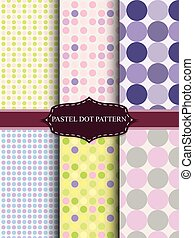 colorful pastel dot pattern