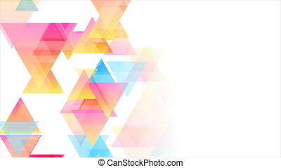 Colorful pastel triangles abstract tech low poly motion background. Seamless looping. Video animation Ultra HD 4K 3840x2160