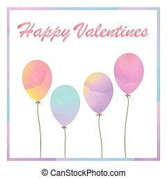 Balloons card for Valentine.