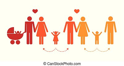 colorful patchwork family concept pictogram vector illustration