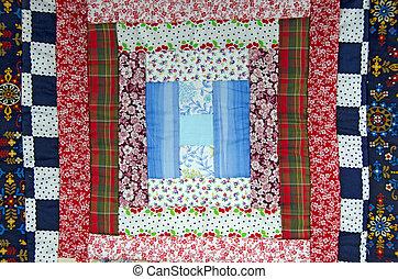 colorful patchwork quilt