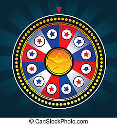 Colorful Patriotic Wheel of Fortune - Illustration of game...