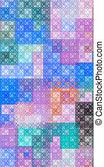 Colorful pattern fractal background