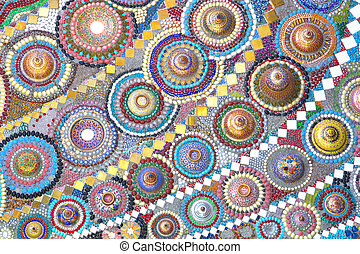 Colorful pattern of benjarong for background