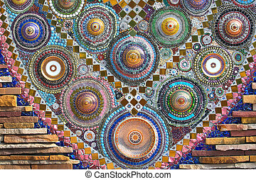 Colorful pattern of benjarong for background.