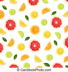 Colorful pattern of citrus fruit