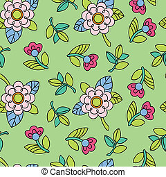 Colorful pattern with flower
