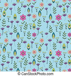 Colorful pattern with little flowers