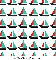 colorful pattern with sailing boats