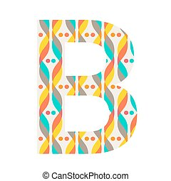 Colorful patterned letter