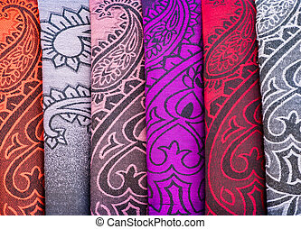 Colorful patterns of fabric