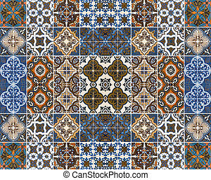Colorful patterns of tiles.