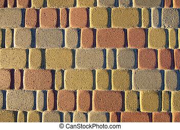Colorful pavement - Colorful sidewalk tiles texture