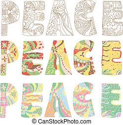 Colorful peace letters