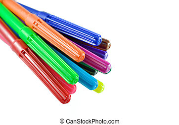 colorful pen isolated on white background
